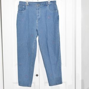 Quacker Factory Heart Embellished Jeans Size 18W